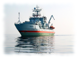 Research Vessel                   Aranda equipped with Meridata ultra-high resolution                   sub-bottom profiling sonar system designed for                   sedimentation studies in sea environments