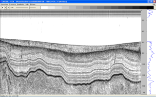 Wideband chirp sub-bottom profile               revealing sediment structures at a sub-decimeter level